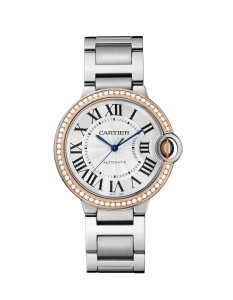 Ballon Bleu de Cartier,steel, pink gold, 28 mm