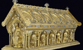 Relikviář sv. Maura, d. 142, š. 48 cm, Státní zámek Bečov nad Teplou