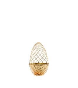 Drátěné vejce s miskou Gold (1)