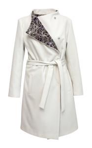 Elisha - krátký bílý kabát s fialovou fleesovou podšívkou, cena 7890