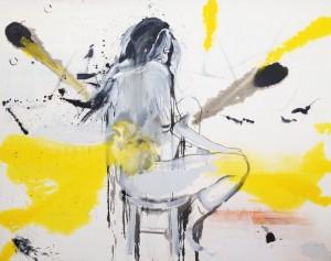 Fuck Me, 2014, akryl, olej, uhel, lak, pl+ítno, 210 x 280 cm_m