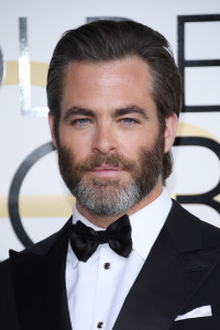 BEVERLY HILLS, CA - JANUARY 08: Chris Pine attends the 74th Annual Golden Globe Awards at The Beverly Hilton Hotel on January 8, 2017 in Beverly Hills, California. (Photo by Venturelli/WireImage)