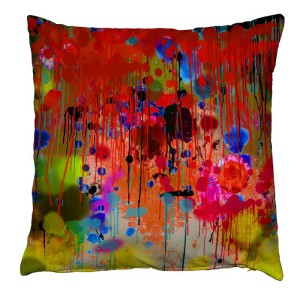 Graffiti Drips Velvet Cushion, rume.co.uk, 152 Euro.