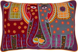 Kissing Elephant crewel work willed cushion, Ian Snow Ltd, 44 Euro.