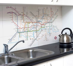 London Tube Map on Ceramic Tiles