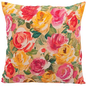 Rose print linen Cushion, Ian Snow Ltd, 25 Euro.