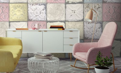Tin Tile Wallpaper in Colour By Woodchip & Magnolia_Lime Lace,138 Euro
