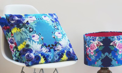Turquoise Digital Floral Cushion_in_spaces-68Euro