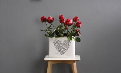 Vaso ovale Keith's Heart_Creativando.nu_92Euro