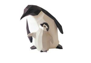 Dekorace papírových tučňáků, en.dawanda.com, 68 Euro.