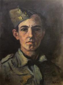 Autoportrét, olej na plátně