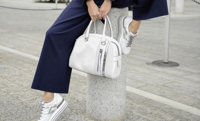 SARA SAMPAIO with Hogan maxiplatform H222 sneakers and bag_2