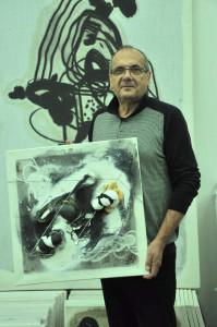 """Před krátkým časem jsme mohli vidět výstavu nazvanou """"ŠERM"""" z volné tvorby Dino Čeča v Galerii P + P KOBYLKA, v Buštěhradské 29, Praha 6. Pod názvem výstavy se skrývá věčný námět dobra se zlem…"""