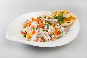 Testovinovy salat