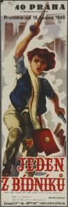 Jeden zbídníků, režie Taťjana Lukaševič, SSSR, 1937, autor plakátu neznámý, 1948