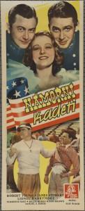 Námořní kadeti, režie Sam Wood, USA, 1937, autor plakátu neznámý