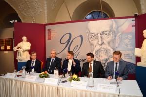 Momentka ze zahájení tiskové konference k vernisáži výstavy