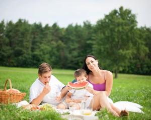 Melouny Bouquet_rodina na pikniku