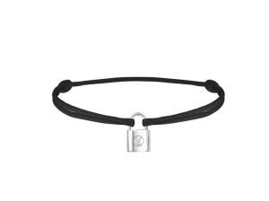 Q95590_Bracelet Silver Lockit Cordon Black