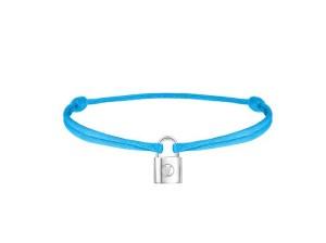 Q95591_Bracelet Lockit Cordon Bleu Cyan