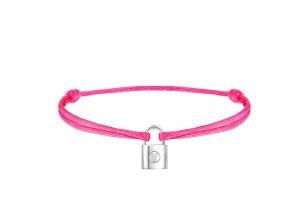 Q95661_Bracelet Silver Lockit Rose Fluo