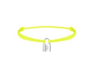 Q95662_Bracelet Silver Lockit Jaune Fluo