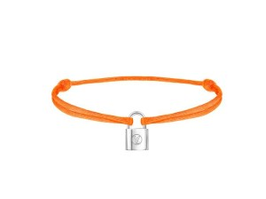 Q95663_Bracelet Silver Lockit Orange Fluo