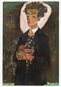 Egon_Schiele_Autoportrait_debout_avec_un_gilet_au__14526