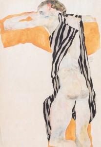 Egon_Schiele_Fille_nue_allongee_en_blouse_rayee_19_14528