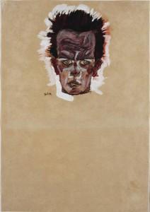 Egon_Schiele__Autoportrait_debout_avec_un_gilet_au_14525
