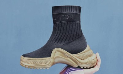 Sneaker boot Sock-like textile