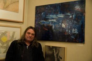 Malíř a fotograf Luboš Mandát se prezentoval olejem na plátně Proměny