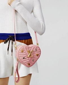 LV NEW WAVE HEART BAG LOVE LOCK PINK