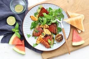 Salat s grilovanym melounem