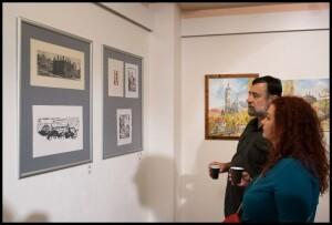 František Leták na vernisáži vzpomínané výstavy v Kutné Hoře, spolu s Veronikou Holou, která s ArcusGallery připravuje na listopad 2019 výstavu Moje industriální já. Leták měl v těchto prostorách výstavu v květnu a červnu, nazvanou Obrazy z posledních…