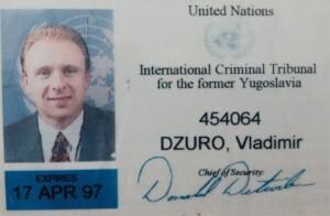 Služební průkaz zaměstnance Mezinárodního tribunálu