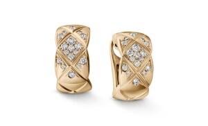 Náušnice z 18ti karátového zlata s diamanty