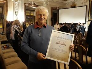 Jiří Nesét po slavnostním vyhlášení soutěže v Břevnovském klášteře