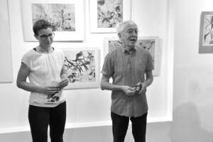 Kunsthistorička Lenka Patková spolu s malířem a galeristou Michailem Šcigolem