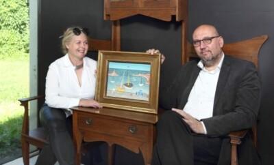 12_Marie a Tomas Hejtmankovi majitele aukcni sine Arthouse Hejtmanek s obrazem Lodky v pristavu Jana Zrzaveho_foto Arthouse